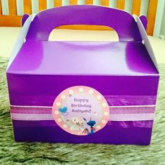 Personalised treat boxes for kids tables