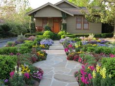 Zero Lawn Xeriscape - craftsman - Landscape - Houston - David Morello Garden Enterprises, Inc.