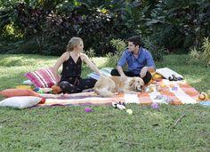 Bruno Gissoni com sua cachorra Beth (Foto: Fábio Rocha)
