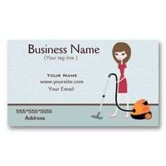 Fun Cleaning Service business cards | Cleaning service and ...
