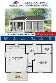 1 Bedroom House Plans, Guest House Plans, Sims House Plans, Small House Floor Plans, Cottage Floor Plans, Guest Cottage Plans, Guest Houses, Home Design, Small House Design