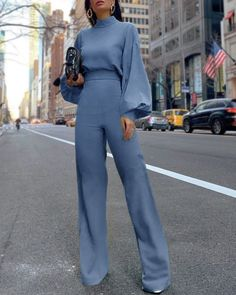 stylish me Clothes Jumpsuit Jumpsuits 3499 Classy Outfits, Chic Outfits, Fashion Outfits, Girl Outfits, Office Outfits, Fashion Mode, Look Fashion, 80s Fashion, Girl Fashion