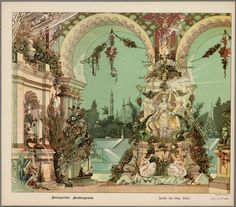 Splendid background for a toy theater c 1887
