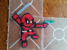 Deadpool perler beads by Sara Rodriguez