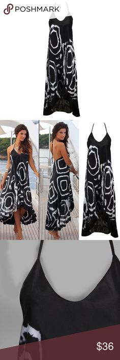 "💥SALE💥New BoHo Hi-Low Maxi Dress New Boho Black and White Hi Low Dress. Just a Beautiful Pattern. Great Summer / Beach Dress The Material is Lightweight and Silky Soft.  2 Small's Available.      Material: Chiffon, , Polyester. There is No ""stretch"" to the material. Ya Man Dresses High Low"