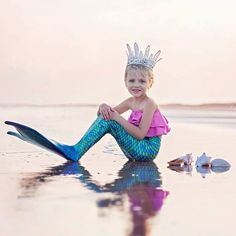Always wear your invisible crown! Double tap if you love being a mermaid! :heart:  #finfun #finfunmermaid #mermaidcrown #crown #mermaids #mermaid #royalty #ocean #softlight #twin