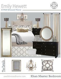 Khan Master Bedroom Online Design - perfect master bedroom colour scheme and furniture etc