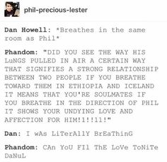 I love Dan and Phil but the phandom needs to consider the fact that they probs aren't in love