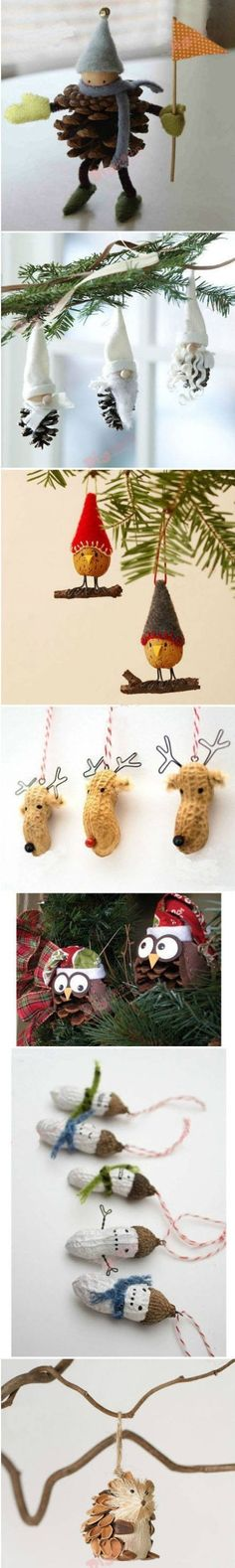tiny ornaments made from nuts