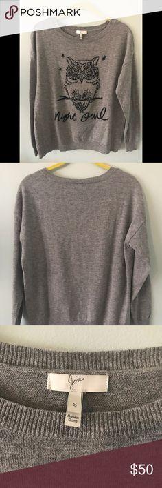 Night Owl Sweater Joie sweater 90% wool 10% cashmere Joie Sweaters Crew & Scoop Necks