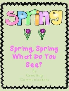 Use this book written in the Brown Bear format to teach vocabulary and items that are found during spring. Included are printing practice sheets, prompts for writing about spring. There are some awesome coloring pages too!  Great little package to send home with younger students.