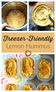 Enjoy fresh, raw veggies more often! Dip them into this Freezer-Friendly Lemon Hummus that you can make once and eat for months!