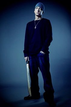 Eminem with a machete
