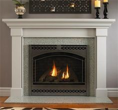 Traditional Freestanding Fireplace from Heat  & Glo