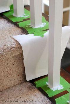 DIY Oak Banister Makeover- tips and tricks to get the best results. DIY Oak Banister Makeover- tips and tricks to get the best results. Home Improvement Loans, Home Improvement Projects, Home Projects, Oak Banister, Banisters, Stair Railing, Tips And Tricks, Home Remodeling Diy, Home Renovation