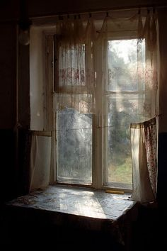 Looking through the window in a countryside )))