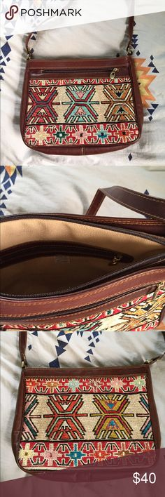 Vintage hand woven leather bag. Top zipper is broken as shown in picture. Easily fixed if new zipper is put in, and does not need to be zippered to wear as well. This is a vintage bag and has been absolutely loved, but still has lots of life left to it. Not free People, listed for exposure. Free People Bags