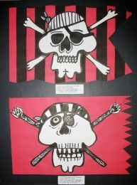 Pirate flags,  4th grade.  I think this is the coolest thing I've seen yet.