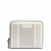 Bleecker Medium Continental Zip Wallet In Striped Perforated Leather