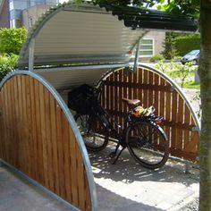 Fahrradkeller # Fahrradabstellplatz # Gartenhaus, - List of the most beautiful garden Garage Velo, Outdoor Bike Storage, Bike Shelter, Bicycle Decor, Bicycle Design, Bike Locker, Bike Shed, Shed Storage, Storage Ideas
