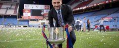 Pep Guardiola, con la Copa del Rey.