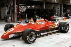 1982 Ferrari Gilles Villeneuve, The Pilot! Road Race Car, Race Cars, Classic Motors, Classic Cars, Ferrari F1, Ferrari Scuderia, Gilles Villeneuve, Race Engines, Formula 1 Car