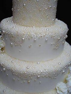 "Wedding Cake""Pearls Galore"""