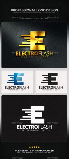Electro Flash Logo Template - Letters Logo Templates
