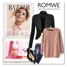 """""""Romwe contest"""" by fashion-572 ❤ liked on Polyvore featuring women's clothing, women, female, woman, misses and juniors"""