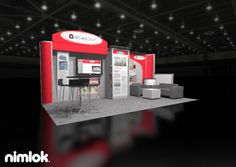 Nimlok constructs and designs poertable trade show exhibits and displays. For Holcroft, we designed a custom trade shoe booth solution that would showcase their brand.