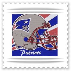 For all you,NEW ENGLAND PATRIOTS fans!  Thank you for your interest in my beautiful BEAD PATTERNS for beautiful tapestries.   -Peyote 2 drop FOOTBALL-SPORTS Tapestry Bead Pattern   -AVAILABLE IN THE L