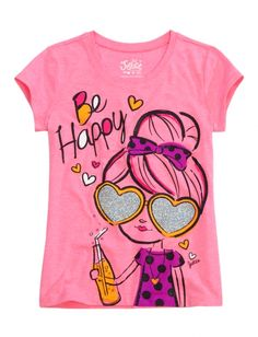 Be Happy Graphic Tee | Girls Graphic Tees Clothes | Shop Justice