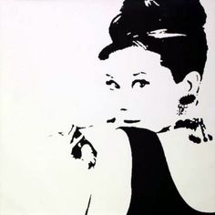 Audrey Hepburn. I so want this on my wall!