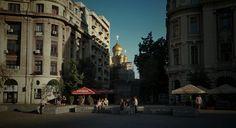 Bucharest - Sunset over Russian Church
