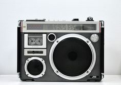 """JVC RC-550W front vintage boombox.....................Please save this pin.   .............................. Because for vintage collectibles - Click on the following link!.. <a href=""""http://www.ebay.com/usr/prestige_online"""" rel=""""nofollow"""" target=""""_blank"""">www.ebay.com/...</a>"""