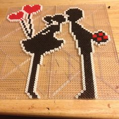 Couple - Love perler beads by perlerific More