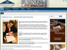 B2 Web Studios' Joomla website design for Epiphany Law in Appleton, Wisconsin - http://epiphanylaw.com