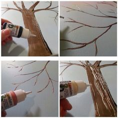 Diy crafts for home decor - button tree crafts work Diy Crafts For Home Decor, Diy Home Decor Rustic, Diy And Crafts Sewing, Tree Crafts, Crafts For Teens, Diy Craft Projects, Craft Tutorials, Crafts To Sell, Craft Ideas