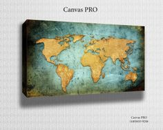 World Map Canvas Print Digital printed Canvas to by TheCanvasPros, $29.95