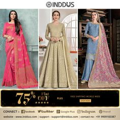 Styles that keep up with the changing image of a modern woman! Don't miss out on some fantastic additions to your closet! Shop Inddus.  #Inddus #anarkalisuits #lehengastylesuits #gownstylesuits #sarees #bollywoodfashion #Canada #Australia #southAfrica #USA #London #America #musthave #Fashion #beauty #UK #Mauritius #India #Malaysia #Singapore #FreeShipping Beauty Uk, Fashion Beauty, Indian Dresses Online, Lehenga Style, Dress Models, Anarkali Suits, Indian Ethnic Wear, Mauritius, Bollywood Fashion