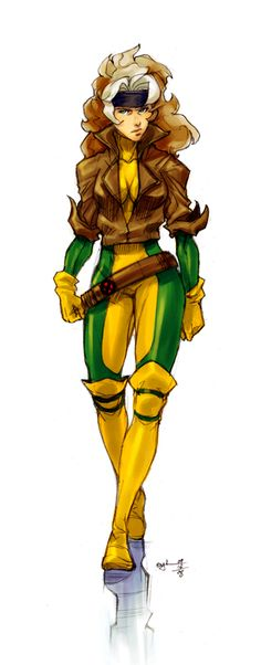 Rogue - the beautiful Southern Belle of the X-Men. I wanted to BE her when I was little!