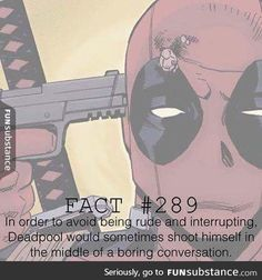 Manners, Deadpool style