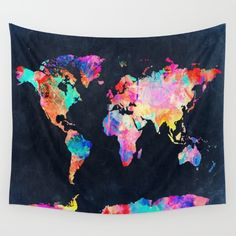 Buy World map Wall Tapestry by Bekim ART. Worldwide shipping available at Society6.com. Just one of millions of high quality products available.