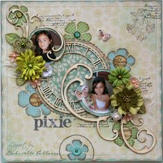 Pixie  **Bo Bunny Snow Day Collection & Dusty Attic** - Scrapbook.com