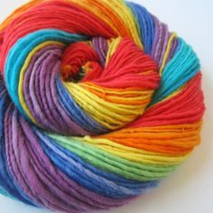 Gorgeous handspun, hand dyed yarn. LOVE the colorway. :) - I've ordered her yarn before and loved it.