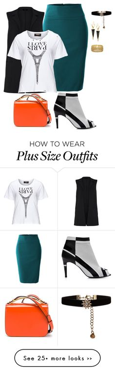 """""""plus size street chic"""" by kristie-payne on Polyvore featuring LE3NO, Carmakoma, Pierre Hardy, Marni, Lana, Accessorize and Paula Mendoza"""