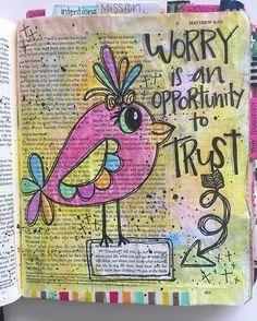 Bible Journaling by Trudy Barker Faith Bible, My Bible, Bible Art, Bible Scriptures, Bible Drawing, Bible Doodling, Bible Study Journal, Scripture Study, Art Journaling