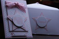 Einladungskarten - Einladungskarte Stern Rosa Mädchen - ein Designerstück von EvasCardArt bei DaWanda