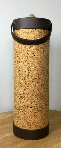 Vintage MID CENTURY George Briard Ice Bucket Wine Bucket HUGE Cork Original Box! #GeorgeBriard