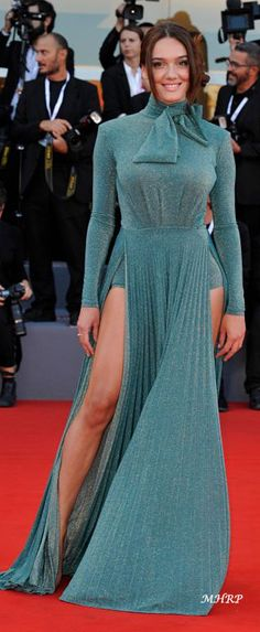 Red Carpet Looks, Film Festival, Venice, Films, Dresses With Sleeves, Celebs, Formal Dresses, Long Sleeve, Fashion